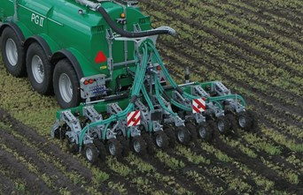 SAMSON AGRO A/S launches new injector for placing slurry in row crops