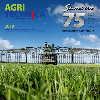 AGRITECHNICA 2019: New SAMSON Smart Farming applications